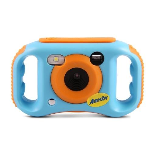 Amkov Kids Caméscope numérique Connexion WiFi Max. Cadeau de Noël de la batterie au lithium intégrée de 5 mégapixels Nouvel an présent pour les filles des garçons