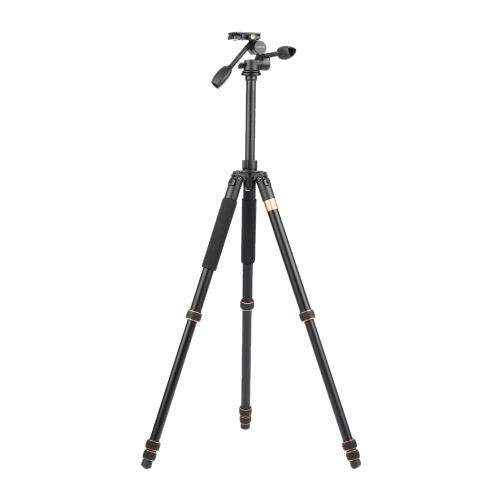 Andoer TP-630 180cm/70.9 Magnalium Tripod Dual Handle 3-way Photographic Head Max. Load 20kg for Canon Nikon Sony DSLR Camera