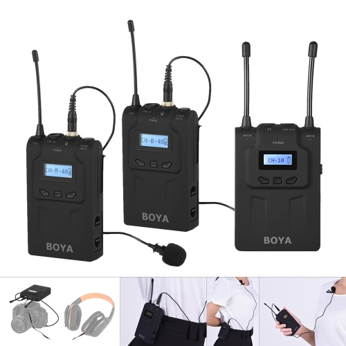 BOYA BY-WM8 Pro Clip-on UHF Dual-Channel Wireless Mic Microphone System Audio Video RecorderCameras &amp; Photo Accessories<br>BOYA BY-WM8 Pro Clip-on UHF Dual-Channel Wireless Mic Microphone System Audio Video Recorder<br>
