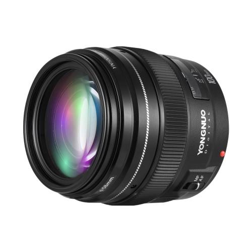 YONGNUO YN100mm F2 teleobjetivo medio primer objetivo de 100 mm Distancia focal fija Apertura f / 2 ~ F / 22 para el modo de Canon EOS Rebel ayuda de la cámara AF MF