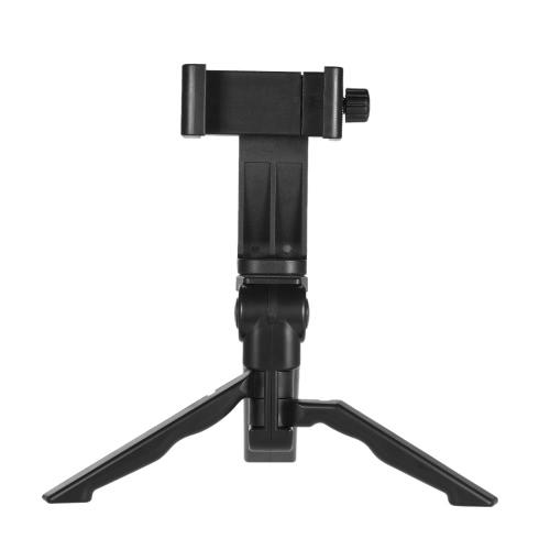Andoer Mini Tabletop三脚スタンドiPhone 7 Plus / 7/6/6 Plus / 6s用デジタルカメラ用ユニバーサルスマートフォンクリップホルダーブラケット付きハンドヘルドグリップスタビライザー
