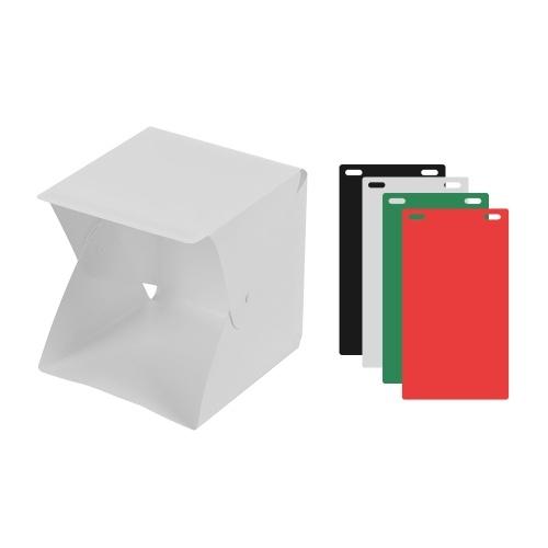 ポータブルフォトスタジオLEDライトボックス撮影テントミニ折り畳み写真スタジオソフトボックス