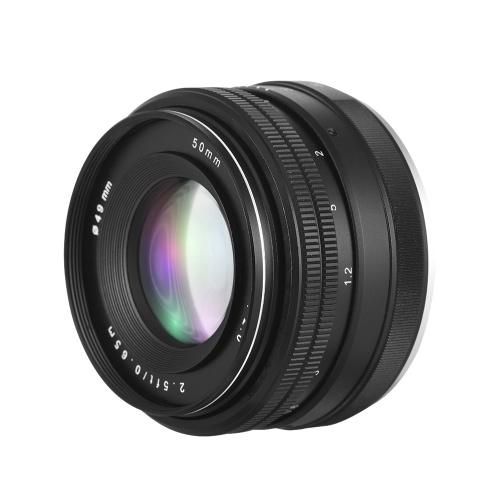 Lente de enfoque manual fijo de 50 mm F / 2.0