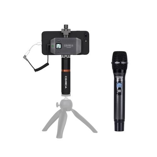 Microphone sans fil COMICA CVM-WS50H pour smartphone + émetteur à main