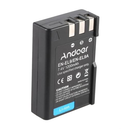 Andoer EN-EL9 EN-EL9A Rechargeable Li-ion Battery 7.4V 1200mAh for Nikon D3X D40X D40 D60 D3000 D5000 DSLR Camera CamcorderCameras &amp; Photo Accessories<br>Andoer EN-EL9 EN-EL9A Rechargeable Li-ion Battery 7.4V 1200mAh for Nikon D3X D40X D40 D60 D3000 D5000 DSLR Camera Camcorder<br>
