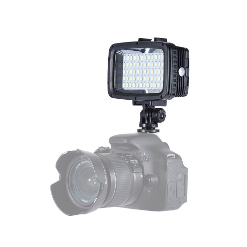 Andoer Ultra Bright 1800LM 3 Режимы Водонепроницаемый Подводные 40m 5500K 60pcs LED Дайвинг Принудительная Light Видео фотостудию Лампа для GoPro Hero Xiaomi Yi SJCAM Action Cam & для Canon Nikon Sony DSLR Camera ж / Hot Shoe Mount + 3 * Фильтр