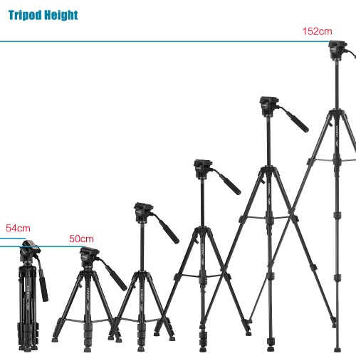 YUNTENG VCT-691 Professional Portable Aluminum Alloy Video Tripod 4-Section Camera Tripod with Fluid Pan &amp; Tilt Head for Canon NikCameras &amp; Photo Accessories<br>YUNTENG VCT-691 Professional Portable Aluminum Alloy Video Tripod 4-Section Camera Tripod with Fluid Pan &amp; Tilt Head for Canon Nik<br>