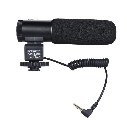 K&amp;F CONCEPT CM-500 Metal Cardioid Directional Condenser Shotgun Video MicrophoneCameras &amp; Photo Accessories<br>K&amp;F CONCEPT CM-500 Metal Cardioid Directional Condenser Shotgun Video Microphone<br>