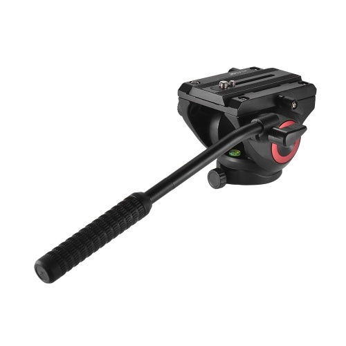"""Cabezal de fluido ligero Cabezal de arrastre hidráulico Cabezal trípode tridimensional Disparo panorámico de 360 ° con soportes de tornillos de 1/4 """"y 3/8"""" para Canon Nikon Cámara videocámara Sony Capacidad de carga máxima 5 kg"""