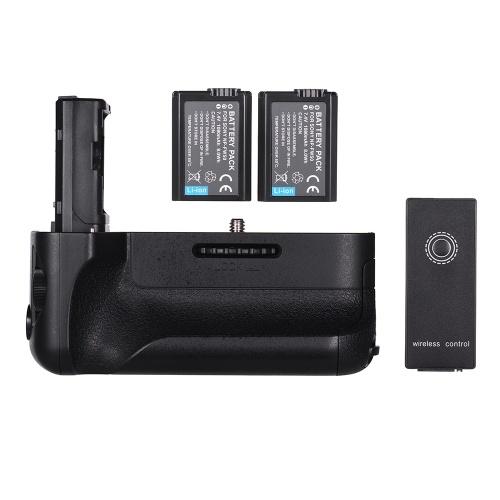 Empuñadura vertical de repuesto de la batería Empuñadura de la cámara con NP-FW50 Batería de control remoto inalámbrico 2.4G para cámaras réflex digitales A7II / A7M2 / A7R2 de Sony