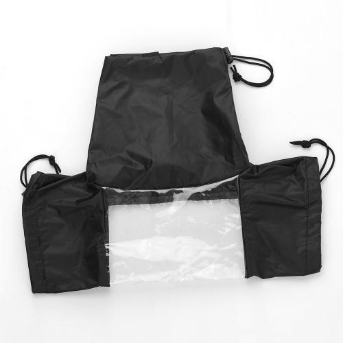 Protector de la manga impermeable de la cubierta impermeable de la cámara estándar Cámara impermeable para Canon Nikon Sony DSLR Cameras Negro