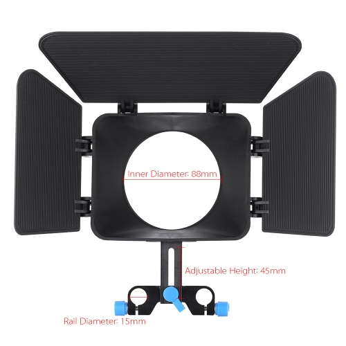 Matte Box Camshade for 15mm Rail Rod Follow Focus Rig Cage Movie Kit Film Making System for Nikon Canon DSLR Camera Camcorder DVRCameras &amp; Photo Accessories<br>Matte Box Camshade for 15mm Rail Rod Follow Focus Rig Cage Movie Kit Film Making System for Nikon Canon DSLR Camera Camcorder DVR<br>
