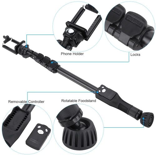 YUNTENG VCT-388 Extendable Selfie Stick Pole Monopod Self-Timer with Removable Wireless Bluetooth Remote Shutter Controller PhoneCameras &amp; Photo Accessories<br>YUNTENG VCT-388 Extendable Selfie Stick Pole Monopod Self-Timer with Removable Wireless Bluetooth Remote Shutter Controller Phone<br>