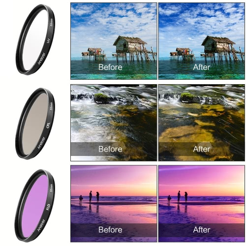 Andoer 52mm Filter Kit (UV+CPL+FLD) + Nylon Carry Pouch + Lens Cap + Lens Cap Holder + Lens Hood + Lens Cleaning ClothCameras &amp; Photo Accessories<br>Andoer 52mm Filter Kit (UV+CPL+FLD) + Nylon Carry Pouch + Lens Cap + Lens Cap Holder + Lens Hood + Lens Cleaning Cloth<br>