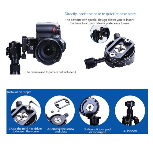 Andoer 360 Degree Camera DSLR Panoramic Panning Base Head Clamp with Quick Release Plate for Photography Tripod MonopodCameras &amp; Photo Accessories<br>Andoer 360 Degree Camera DSLR Panoramic Panning Base Head Clamp with Quick Release Plate for Photography Tripod Monopod<br>