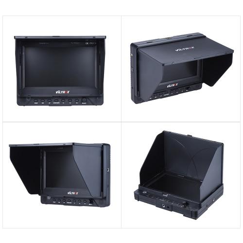 Monitor LCD Voltax DC-70EX 4K Porfessional Portable da 7 pollici con fotocamera clip-on