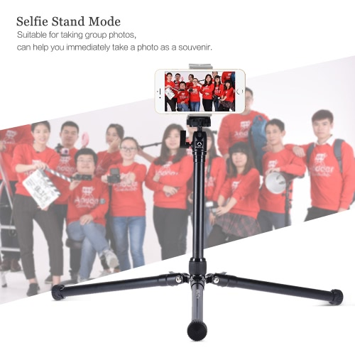 KINGJOY P056 5-Section DSLR Camera Tripod Multifunctional Light &amp; Portable Aluminum Alloy Tripod Can Turn to Selfie Stick / StandCameras &amp; Photo Accessories<br>KINGJOY P056 5-Section DSLR Camera Tripod Multifunctional Light &amp; Portable Aluminum Alloy Tripod Can Turn to Selfie Stick / Stand<br>