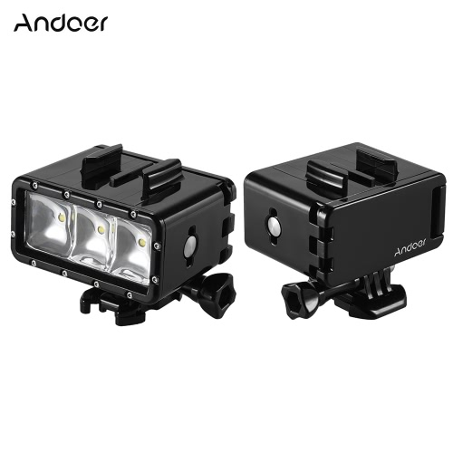 Andoer Waterproof LED Diving Video Fill-in Light Lamp Spotlight 3 Modes Underwater 30m with Dual Rechargeable Batteries (1160mAh *Cameras &amp; Photo Accessories<br>Andoer Waterproof LED Diving Video Fill-in Light Lamp Spotlight 3 Modes Underwater 30m with Dual Rechargeable Batteries (1160mAh *<br>