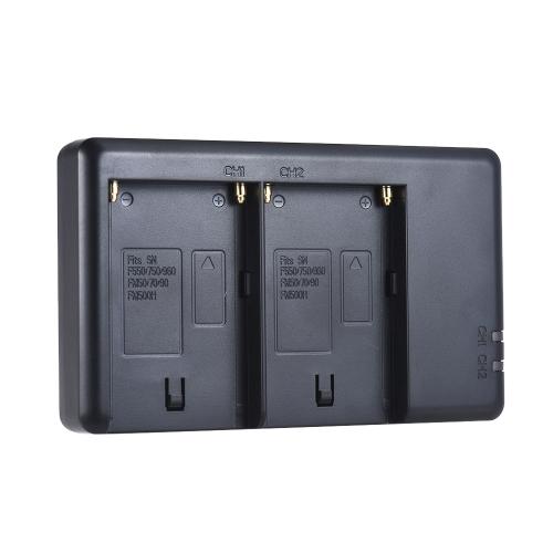 Зарядное устройство для фотокамер FB NP-F550 Двухканальный микро-USB-вход