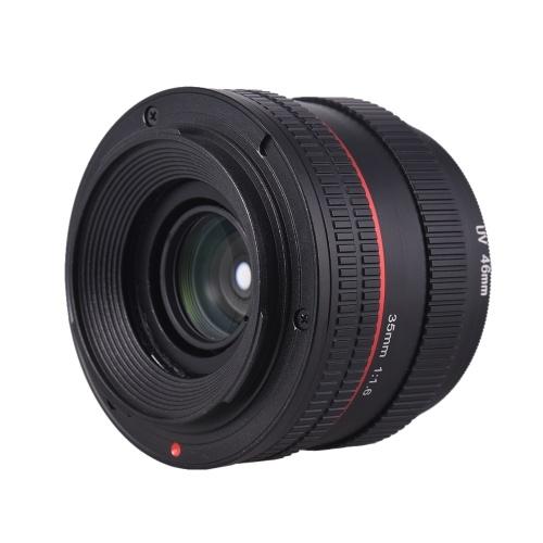 Objetivo principal de enfoque manual de 35 mm F1.6 gran lente