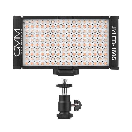 GVM 160 LED luz do painel de luz na câmera digital filmadora DSLR luz de vídeo