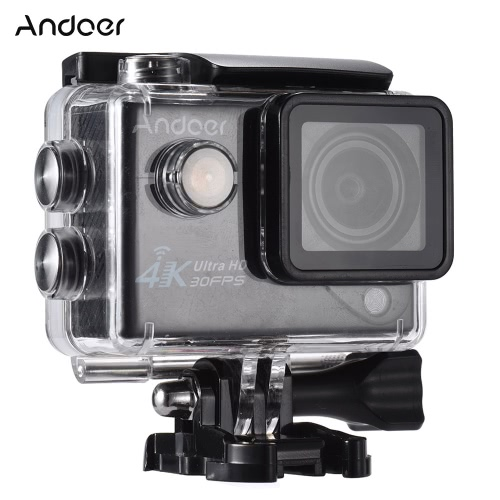 Andoer 4K 30FPS 1080P 60FPS Full HD Wifi 170°Wide Angle Outdoor Action CameraCameras &amp; Photo Accessories<br>Andoer 4K 30FPS 1080P 60FPS Full HD Wifi 170°Wide Angle Outdoor Action Camera<br>