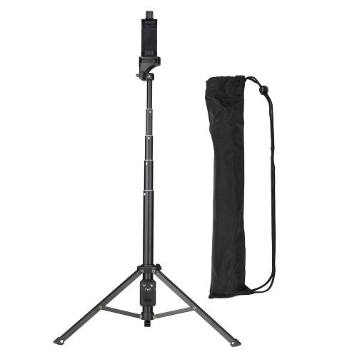 YUNTENG VCT-1688 2in1 Portable Mini Cellphone Selfie Stick Tabletop Tripod with Remote Controller for iPhone Samsung Huawei 52mm-102mm Width Smartphone for DSLR ILDC Cameras Action Camera Max. Load 5kg