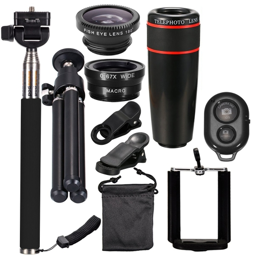 10PCS 8X Telephoto Mobile Phone Lens KitCameras &amp; Photo Accessories<br>10PCS 8X Telephoto Mobile Phone Lens Kit<br>