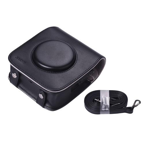 オプションのための富士フイルムInstax SQ10カメラ3色のための調節可能なショルダーストラップ付きAndoer SQ10カメラケースバッグPUレザー保護カメラバッグ