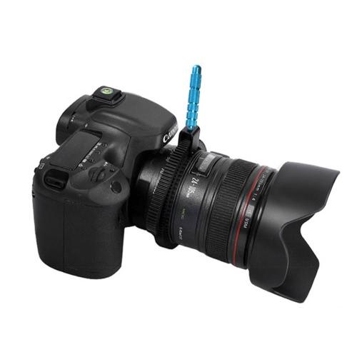 In gomma seguire Focus Gear anello cintura con impugnatura in lega di alluminio per DSLR Camera Camcorder