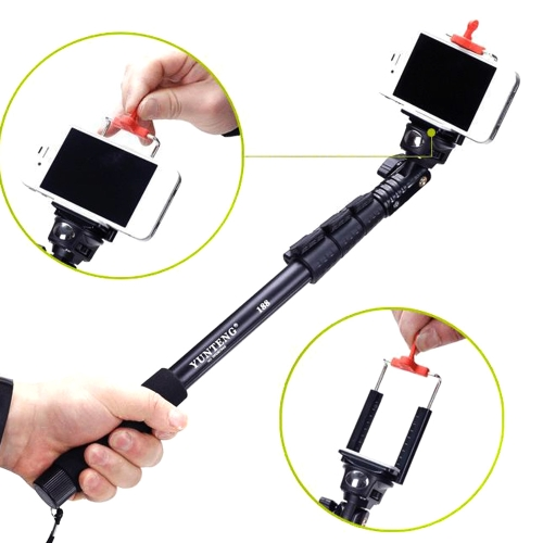 Yunteng C-188 Extendable Handheld Tripod Monopod Adapter Self Held with Phone Clip for iPhone 5S 6 Samsung Huawei Lenovo Nokia SonCameras &amp; Photo Accessories<br>Yunteng C-188 Extendable Handheld Tripod Monopod Adapter Self Held with Phone Clip for iPhone 5S 6 Samsung Huawei Lenovo Nokia Son<br>