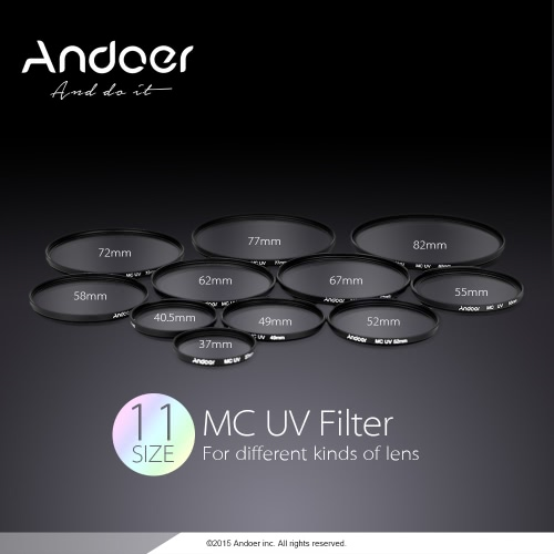 Andoer 77mm Ultrathin Multi-Coated MC UV Ultra-Violet Filter Lens Protector for Canon Nikon DSLR CameraCameras &amp; Photo Accessories<br>Andoer 77mm Ultrathin Multi-Coated MC UV Ultra-Violet Filter Lens Protector for Canon Nikon DSLR Camera<br>
