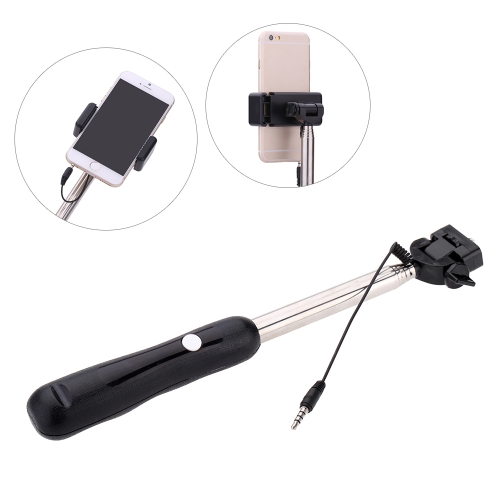 Wired Cable Remote Shooting Control Shutter Telescoping Extending Pole Selfie Monopod Stick Holder 180° Rotation with Clip 22-78cmCameras &amp; Photo Accessories<br>Wired Cable Remote Shooting Control Shutter Telescoping Extending Pole Selfie Monopod Stick Holder 180° Rotation with Clip 22-78cm<br>