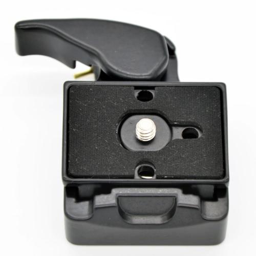 Adaptador de pinça de liberação rápida de câmera 323 + compatível com placa de liberação rápida para Manfrotto 200PL-14 Compat placa