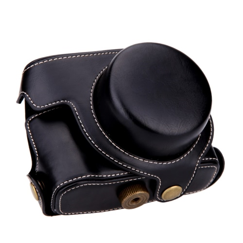 Hard Leather Camera Case Bag with Strap for Canon G1XM2Cameras &amp; Photo Accessories<br>Hard Leather Camera Case Bag with Strap for Canon G1XM2<br>