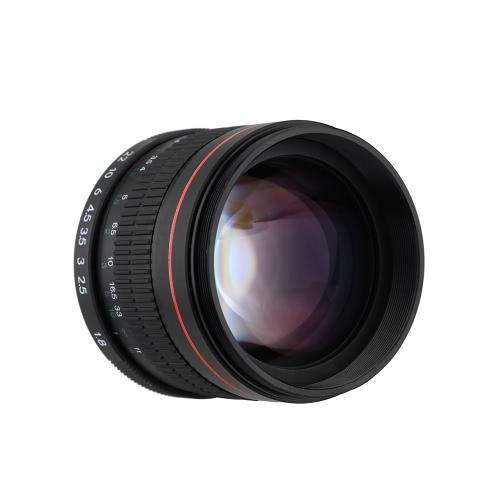 Kelda 85mm F1.8 foco Manual retrato lente para cámara réflex digital de Nikon