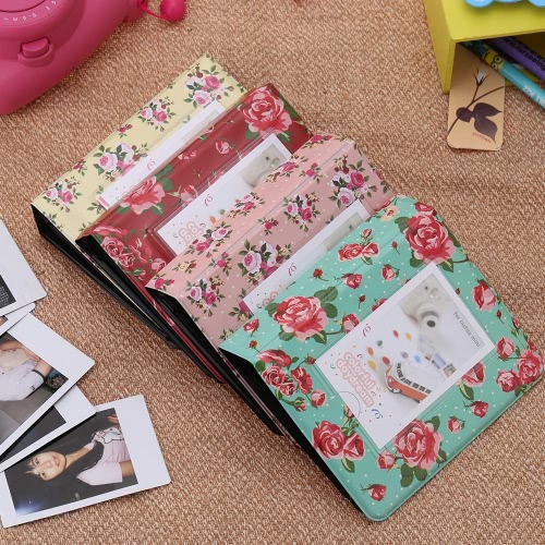 64 Pockets Camera Photo Album Holder Vintage Retro Rose Pattern Book Style Album for Mini Fuji Instax  Name Card 7s 8 25 50s 90 LGCameras &amp; Photo Accessories<br>64 Pockets Camera Photo Album Holder Vintage Retro Rose Pattern Book Style Album for Mini Fuji Instax  Name Card 7s 8 25 50s 90 LG<br>