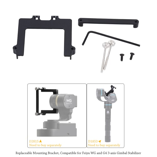 46mm Camera Repleaceable Mounting Bracket Set for Feiyu WG and G4 3-axis Gimbal StabilizerCameras &amp; Photo Accessories<br>46mm Camera Repleaceable Mounting Bracket Set for Feiyu WG and G4 3-axis Gimbal Stabilizer<br>