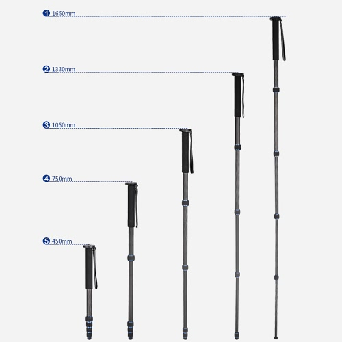 5-Section Telescopic Carbon Fiber Lightweight Photography DSLR Camera Monopod Unipod Walking Stickfor Nikon Canon Pentax Olympus ECameras &amp; Photo Accessories<br>5-Section Telescopic Carbon Fiber Lightweight Photography DSLR Camera Monopod Unipod Walking Stickfor Nikon Canon Pentax Olympus E<br>