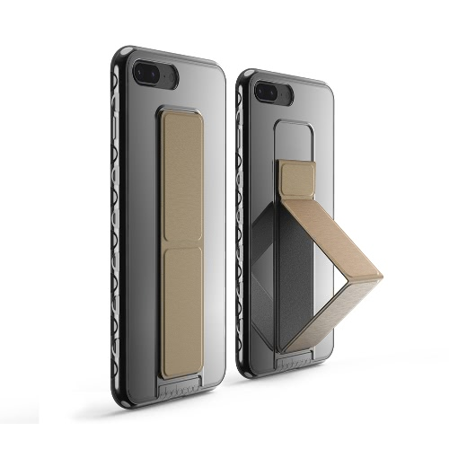 dodocool Ultra Slim Crystal Clear Protective Case with Gold Foldable Kickstand Grip Holder Non-slip Shock Absorption Scratch ResisCellphone &amp; Accessories<br>dodocool Ultra Slim Crystal Clear Protective Case with Gold Foldable Kickstand Grip Holder Non-slip Shock Absorption Scratch Resis<br>