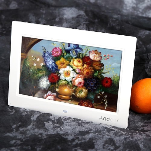 Andoer 10 HD TFT-LCD 1024 * 600 Digital Photo Frame Album Clock MP3 MP4 Movie Player w/ Remote ControlCameras &amp; Photo Accessories<br>Andoer 10 HD TFT-LCD 1024 * 600 Digital Photo Frame Album Clock MP3 MP4 Movie Player w/ Remote Control<br>