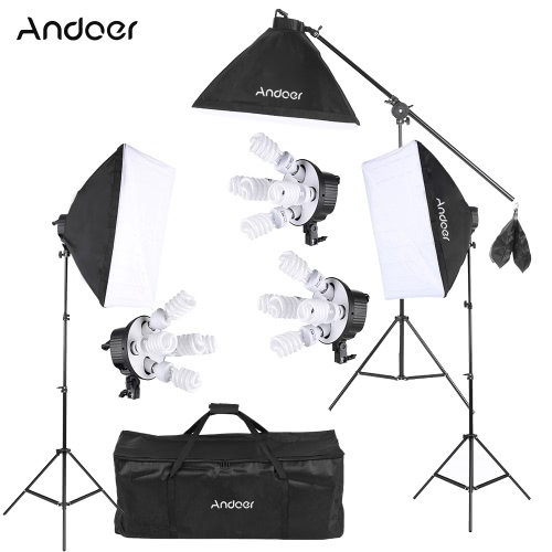 Andoer Studio Photo Video Softbox Lighting Kit Photo Equipment(15 * 45W Bulb / 3 * 5in1 Bulb Socket / 3 * Softbox / 3 * Light StanCameras &amp; Photo Accessories<br>Andoer Studio Photo Video Softbox Lighting Kit Photo Equipment(15 * 45W Bulb / 3 * 5in1 Bulb Socket / 3 * Softbox / 3 * Light Stan<br>