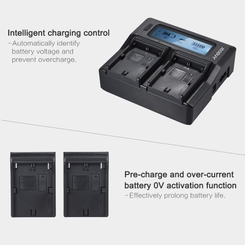 Andoer LP-E6 LP-E6N Dual Channel Digital Camera Battery Charger w/ LCD Display for Canon EOS 5DII 5DIII 5DS 5DSR 6D 7DII 60D 80D 7Cameras &amp; Photo Accessories<br>Andoer LP-E6 LP-E6N Dual Channel Digital Camera Battery Charger w/ LCD Display for Canon EOS 5DII 5DIII 5DS 5DSR 6D 7DII 60D 80D 7<br>