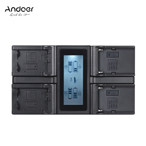 Andoer NP-FW50 NPFW50 NP-F970 4-Channel Digital Camera Battery Charger w/ LCD Display for Sony ?7 ?7R ?7sII ?7II ?6500 A6300 NP-F5Cameras &amp; Photo Accessories<br>Andoer NP-FW50 NPFW50 NP-F970 4-Channel Digital Camera Battery Charger w/ LCD Display for Sony ?7 ?7R ?7sII ?7II ?6500 A6300 NP-F5<br>
