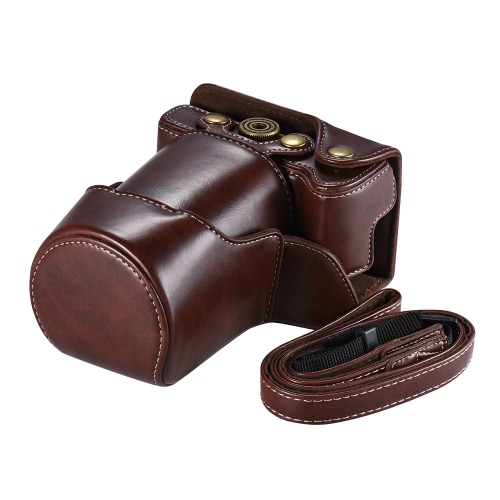High-quality PU Leather Camera Bag Case Fullbody Cover with Adjustable Neck Strap for Canon EOS M6Cameras &amp; Photo Accessories<br>High-quality PU Leather Camera Bag Case Fullbody Cover with Adjustable Neck Strap for Canon EOS M6<br>