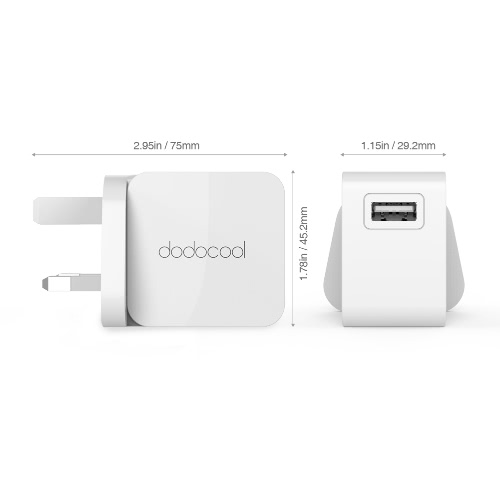 dodocool 12W/2.4A USB Wall ChargerCellphone &amp; Accessories<br>dodocool 12W/2.4A USB Wall Charger<br>