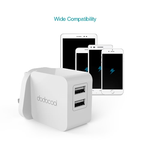 dodocool 17W 3.4A Dual USB Wall Charger Portable Travel Power Adapter for iPhone / iPad / Android Smartphone Tablet Portable DevicCellphone &amp; Accessories<br>dodocool 17W 3.4A Dual USB Wall Charger Portable Travel Power Adapter for iPhone / iPad / Android Smartphone Tablet Portable Devic<br>