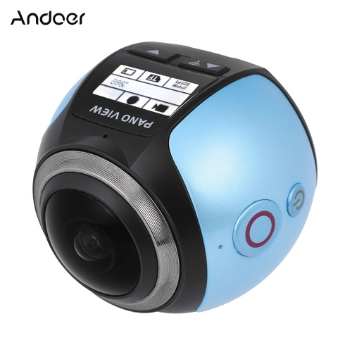 Andoer V1 360 Degree Panorama Wifi 2448P 30FPS 16M Action CameraCameras &amp; Photo Accessories<br>Andoer V1 360 Degree Panorama Wifi 2448P 30FPS 16M Action Camera<br>