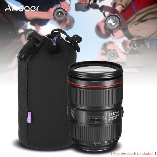 Andoer 8.3 * 3.9 (21.2 * 10cm) Large Size Shockproof Water-resistant DSLR Lens Pouch Extra Thick Soft Protective Bag Case ProtectCameras &amp; Photo Accessories<br>Andoer 8.3 * 3.9 (21.2 * 10cm) Large Size Shockproof Water-resistant DSLR Lens Pouch Extra Thick Soft Protective Bag Case Protect<br>