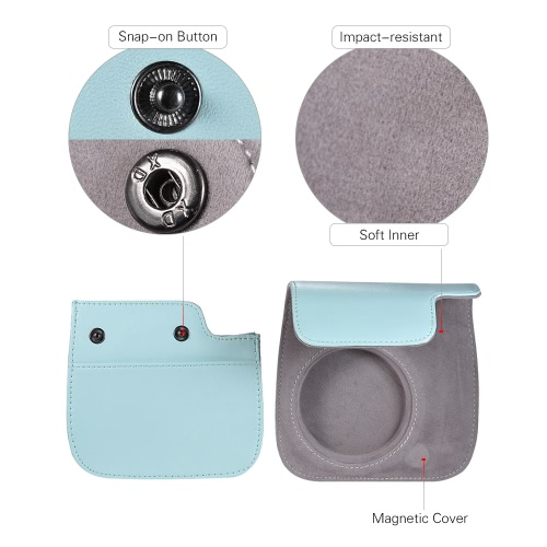 Andoer PU Instant Camera Case Bag with Strap for Fujifilm Instax Mini 9/8/8+/8s Smokey WhiteCameras &amp; Photo Accessories<br>Andoer PU Instant Camera Case Bag with Strap for Fujifilm Instax Mini 9/8/8+/8s Smokey White<br>